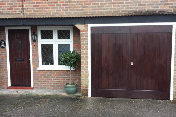 Rockdoor front door and matching Select Ribchester side hinged doors