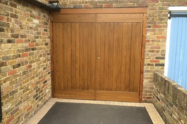 Select ribchester side hinged doors with matching timber frame
