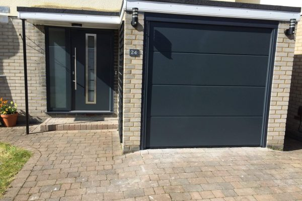 Hormann TPS700 Thermopro front door and L-ribbed sectional